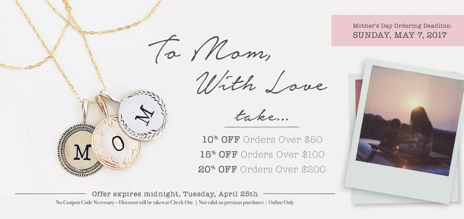 Mothers Day Personalized Jewelry Sale