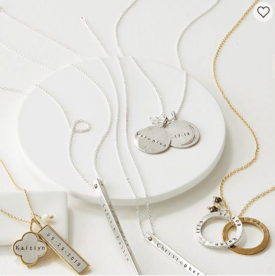 Personalized Quatrefoil Necklace in Mark & Graham